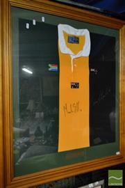 Sale 8495 - Lot 2076 - Framed Nations Jersey