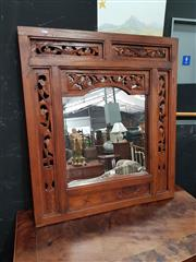 Sale 8700 - Lot 1012 - Timber Framed Carved Mirror