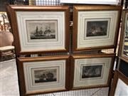 Sale 8759 - Lot 2027 - Set of (4) Hand-Coloured Nautical Engravings by After T. Whitecombe, engraved by Bailey, each 51 x 58.5cm (frame)