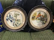 Sale 8809 - Lot 1051 - Pair of Vintage Needleworks in Ornate Frames