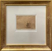 Sale 9041 - Lot 2003 - John Bailey?, The Beach, 1920, dry point etching, frame: 34 x34 cm, signed lower right