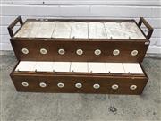 Sale 9059 - Lot 1017 - Vintage Timber & Ceramic Two Tier Racing Pigeon Coop