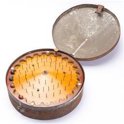 Sale 9130E - Lot 30 - An antique gold fields gambling game, Diameter 40cm