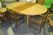 Sale 8287 - Lot 1017 - G-Plan Table & Set of Four Chairs