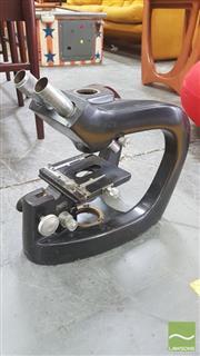 Sale 8310 - Lot 1050 - Early Scientific Microscope in Metal Case