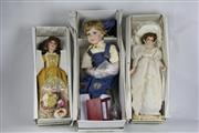 Sale 8384A - Lot 62 - Porcelain Dolls  - Felicity,  Lady Caroline King & Timothy (3)