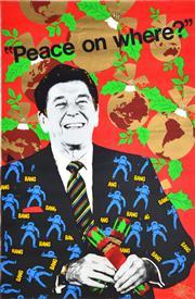 Sale 8433 - Lot 2083 - Deja Vu Poster Workshop - Peace on Where? 75.5 x 50.5cm