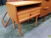 Sale 8607 - Lot 1012 - Pair of Teak Bedsides with Single Drawer