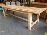Sale 8601 - Lot 1136 - Recycled Elm Farmhouse Dining Table (H: 79 L: 290 W: 100cm)