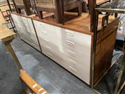 Sale 8896 - Lot 1046 - Pair of Teak Six Drawer Chests