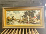 Sale 8962 - Lot 1041 - Large Framed Tapestry (H:73 x D139cm)