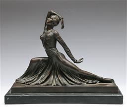 Sale 9138 - Lot 74 - After D.H Chiparus Bronze Figure of A Lady Dancing (Height 32cm Length37cm Width 14cm)