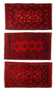 Sale 8455C - Lot 56 - 3 x Afghan turkman 60cm x 90cm