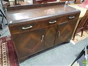 Sale 8532 - Lot 1040 - Art Deco Style Sideboard with Three Drawers & Two Doors