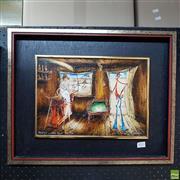 Sale 8636 - Lot 2035 - Leo Smaniotto - Mulga Bill Wonders About the Day 24 x 34.5cm