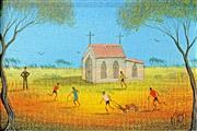 Sale 8722A - Lot 5014 - Kym Hart (1965 - ) - Sunday School Playtime 16.5 x 11.5cm