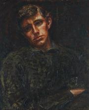 Sale 8773 - Lot 584 - Paul Delprat (1942 - ) - Untitled (Portrait of a Man) 59.5 x 49.5cm
