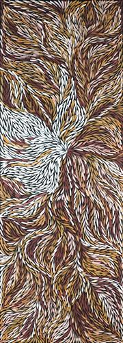 Sale 8895A - Lot 5048 - Rosemary Pitjara (c1965 - ) - Yam Leaves 200 x 75 cm (stretched and ready to hang)