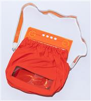 Sale 8891F - Lot 83 - A Jean Paul Gaultier neon orange canvas and perspex shoulder bag