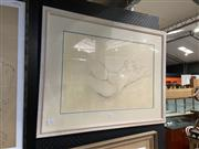Sale 8914 - Lot 2076 - Artist Unknown - Reclined Nude pencil and pastel, 60 x 77cm, signed