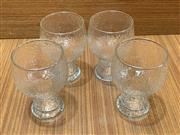 Sale 9022 - Lot 1085 - Suite of 4 Scandinavian Crystal Kekkerit Beer Glasses by Timo Sharpaneva for Littala Finland (13.5cm)