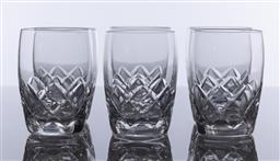 Sale 9245R - Lot 28 - A set of 6 English Stuart hand cut lead crystal whiskey glasses, mid 1900's