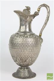 Sale 8516 - Lot 25 - Fine Victorian Scottish Sterling Silver Wine Jug