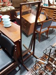 Sale 8705 - Lot 1091 - Danish Teak Cheval Mirror
