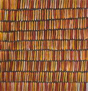 Sale 8821A - Lot 5051 - Jeannie Mills Pwerle (c1965 - ) - Bush Yam Dreaming 102 x 100cm