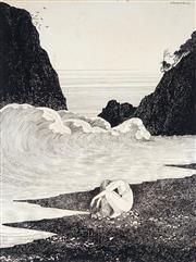 Sale 9013 - Lot 554 - Ida Outhwaite (1888 - 1960) - Castaway 45 x 34 cm (frame: 70 x 57 x 3 cm)