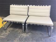 Sale 9039 - Lot 1071 - Pair of Chrome Framed Rodolfo Dordoni Chairs for Minotti (h:69 x w:76cm)
