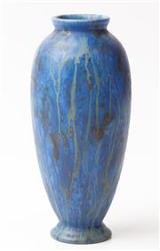 Sale 9048A - Lot 51 - A Bretby Pottery baluster vase with blue glaze, impressed number 90E to base, Height 20cm