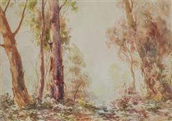 Sale 9093A - Lot 5025 - Arnold Jarvis ( 1881 - 1960) - Summer Landscape 24 x 34 cm (frame: 53 x 62 x 3 cm)
