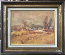 Sale 9106 - Lot 2001 - Guido Zuliani A Country Autumn Scene oil on board 63x 74cm (frame) signed -