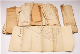 Sale 9122 - Lot 31 - Collection of Old Papers Incl Deeds, Blue Prints And Others