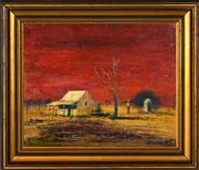 Sale 8382 - Lot 592 - Colin Parker (1941 - ) - The Dunny 28.5 x 36cm