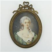 Sale 8393B - Lot 36 - Miniature Portrait of a Lady