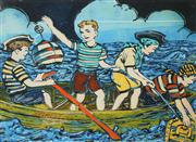 Sale 8592A - Lot 5061 - David Bromley (1960 - ) - 4 Young Pirates 54 x 74cm