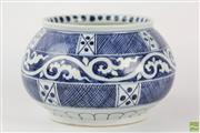 Sale 8555 - Lot 67 - Globular Blue And White Chinese Vase Xuande Mark