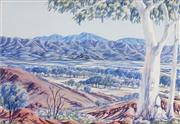 Sale 8565 - Lot 524 - Oscar Namatjira (1922 - 1991 - Central Australian Landscape 34.5 x 50.5cm