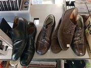 Sale 8582 - Lot 2308 - 3 Pairs of Mens Shoes incl Ferragamo (Size 12), Testoni (Size 11)& Todds (Size 12)