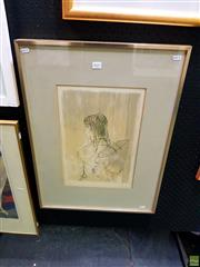 Sale 8659 - Lot 2021 - Artist Unknown, Portrait of a Woman, screenprint, ed. 105/120, 68 x 50cm (frame size), signed lower right
