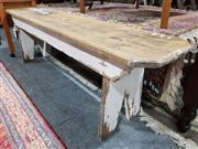 Sale 8760 - Lot 1090 - Rustic Timber Bench