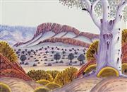 Sale 8808 - Lot 589 - Kevin Namatjira (1958 - ) - Central Australian Landscape 33 x 46cm