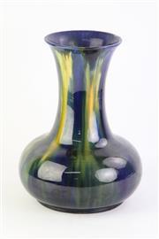 Sale 8796 - Lot 43 - Blue Glazed McHugh Pottery Vase (Height: 31cm)