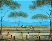 Sale 8821A - Lot 5001 - Kym Hart (1965 - ) - Two Horse Race 16.5 x 13.5cm