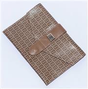 Sale 8891F - Lot 75 - A Fendi monogram waxed canvas fold-over clutch