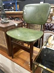 Sale 8896 - Lot 1041 - Pair of Vintage Vinyl Upholstered Dining Chairs