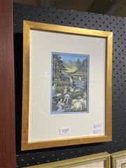Sale 8914 - Lot 2085 - Balinese School - Figures in Harvesting Rice gouach, 31 x 24cm