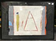 Sale 8953 - Lot 2071 - Brian Brent Orange Triangle c1993 oil on canvas, 72 x 52cm (frame), unsigned